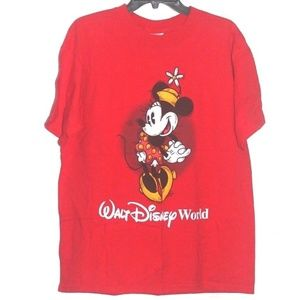 Vintage Walt Disney World Minnie Mouse Red T Shirt